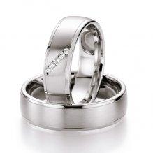 Snubní prsteny s diamanty SP-504