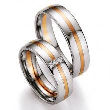 Snubní prsteny s diamanty SP-707