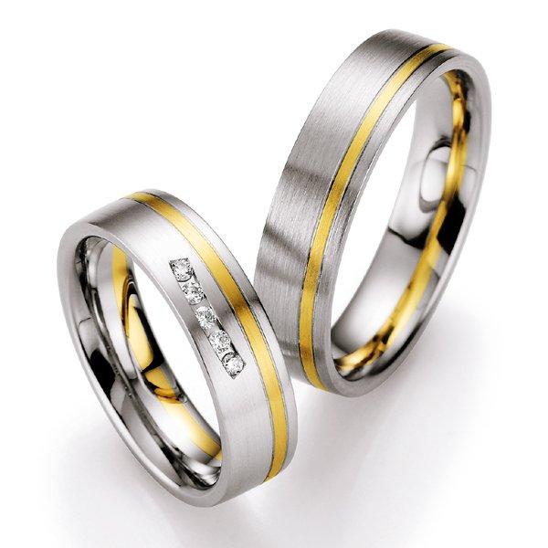 Snubní prsteny s diamanty SP-708