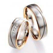 Snubní prsteny s diamanty SP-709