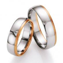 Snubní prsteny s diamantem SP-717