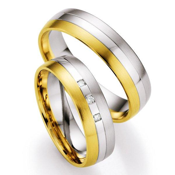 Snubní prsteny s diamanty SP-716