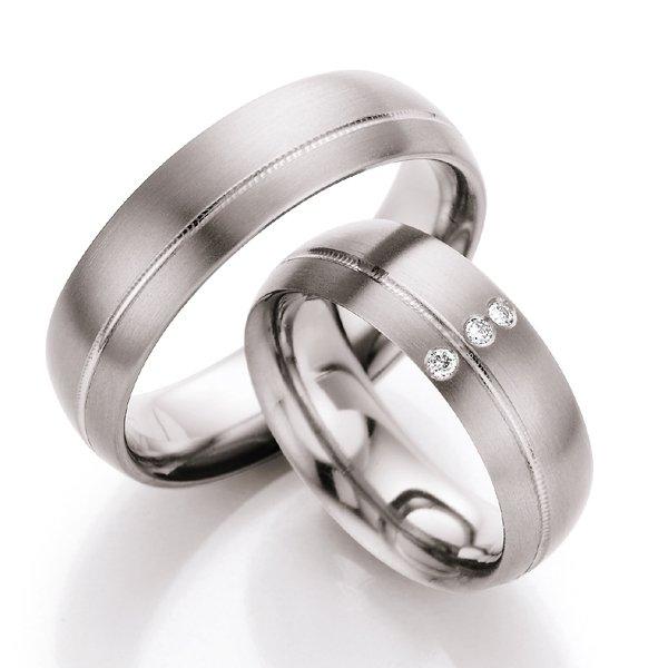 Titanové snubní prsteny s diamanty T710B T710B