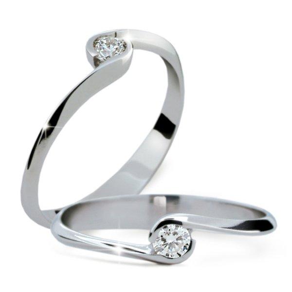Zásnubní prsten s diamantem ZP1914D