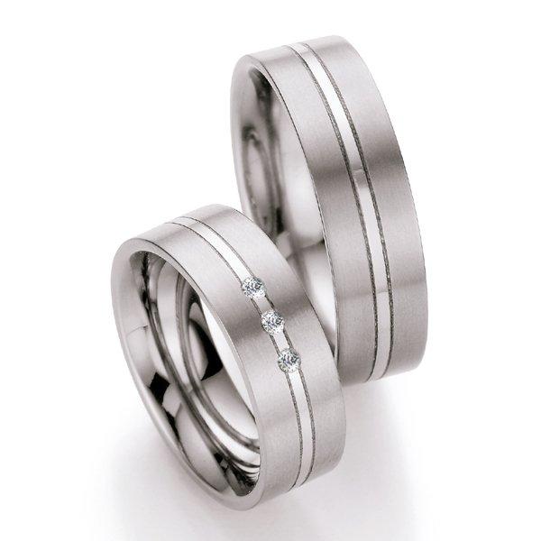 Titanové snubní prsteny s diamanty T713B T713B