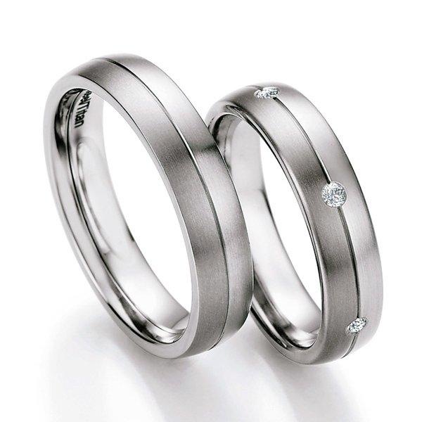 Snubní prsteny ocelové s titanem TS608