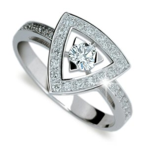 Zásnubní prsten z bílého zlata ZP1970 ZP1970