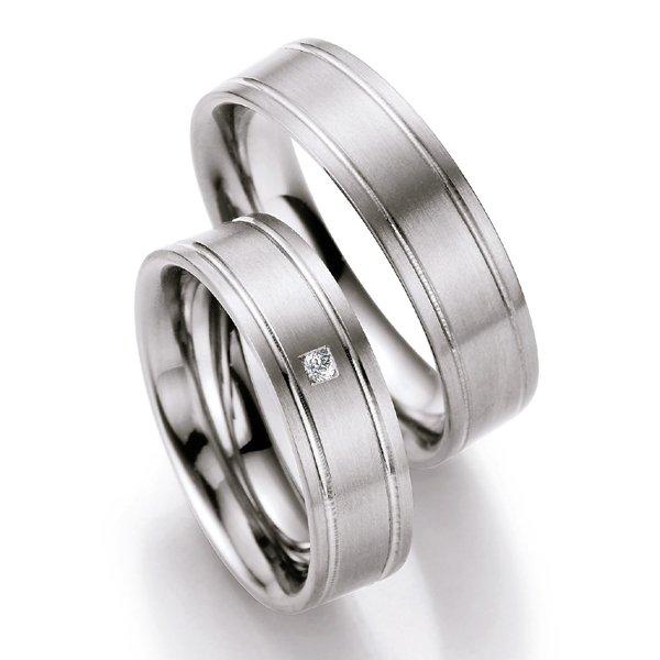 Titanové snubní prsteny s diamantem T716B T716B