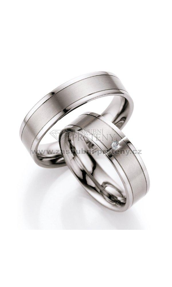Titanove Snubni Prsteny S Diamantem T715b T715b Zasnubni Prsteny Cz