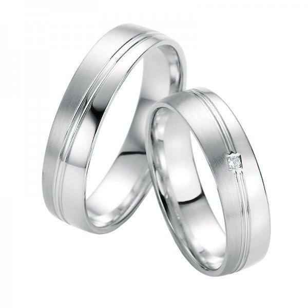 SP-10330 Snubní prsteny z bílého zlata s diamantem SP-10330