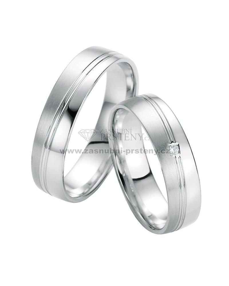 Sp 10330 Snubni Prsteny Z Bileho Zlata S Diamantem Sp 10330