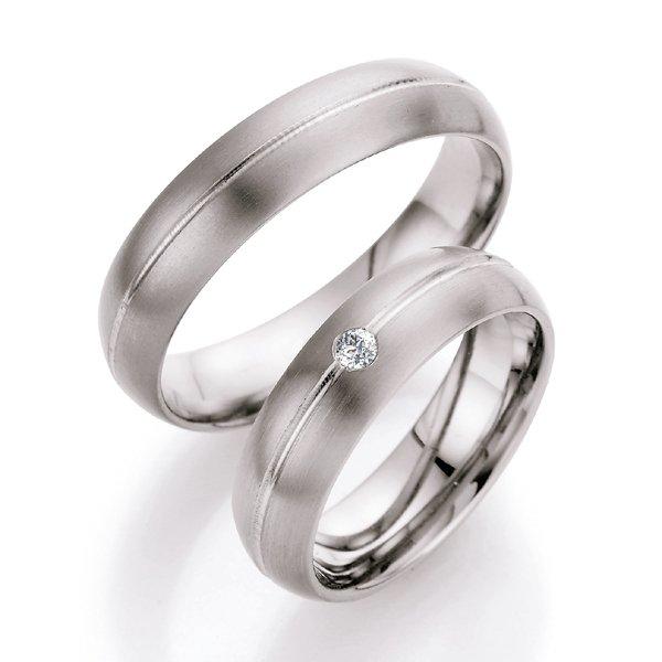 Titanové snubní prsteny s diamantem T708B T708B