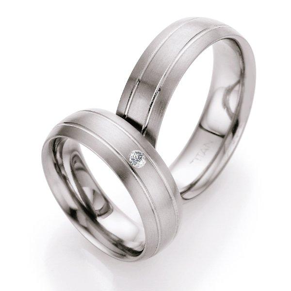 Titanové snubní prsteny s diamantem T709B T709B