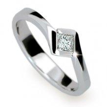 Zásnubní prsten z bílého zlata ZP1977