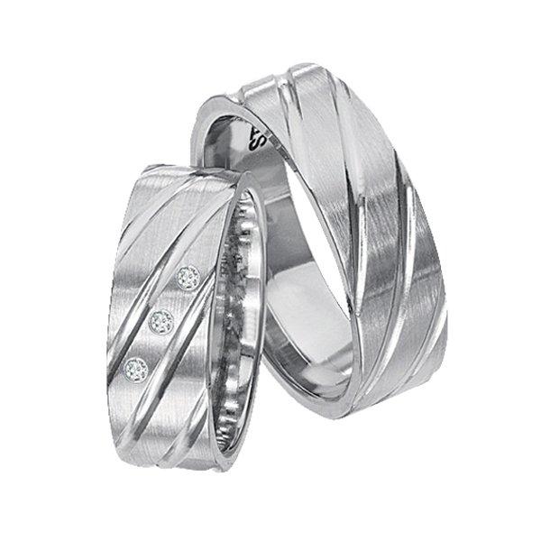 Ocelové snubní prsteny SPTS138