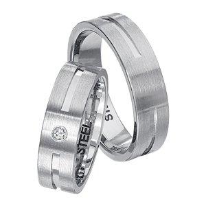 Snubní prsteny z chirurgické oceli SPTS144