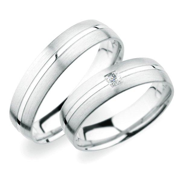 SP-249 Snubní prsteny z bílého zlata SP-249B