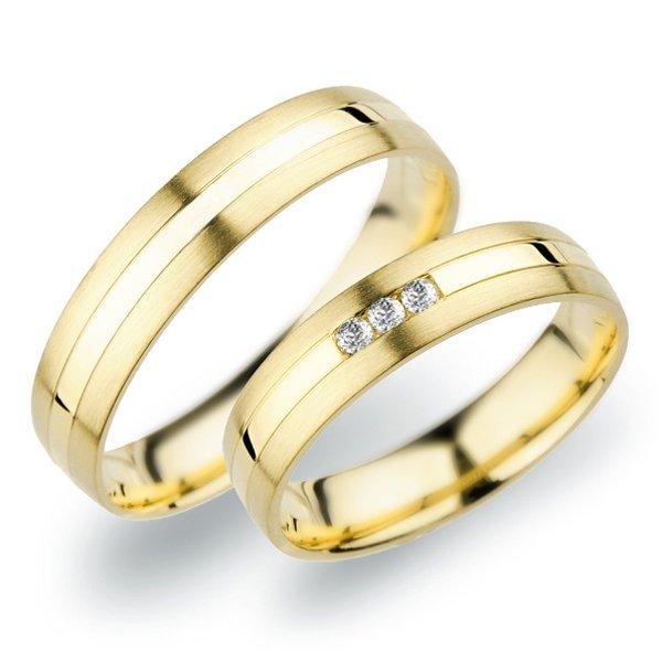 Snubní prsteny ze žlutého zlata SP-250Z