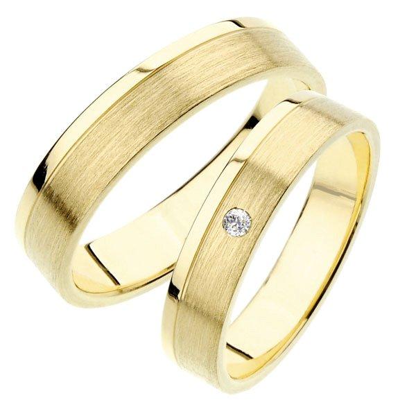 Snubní prsteny ze žlutého zlata SP-242Z