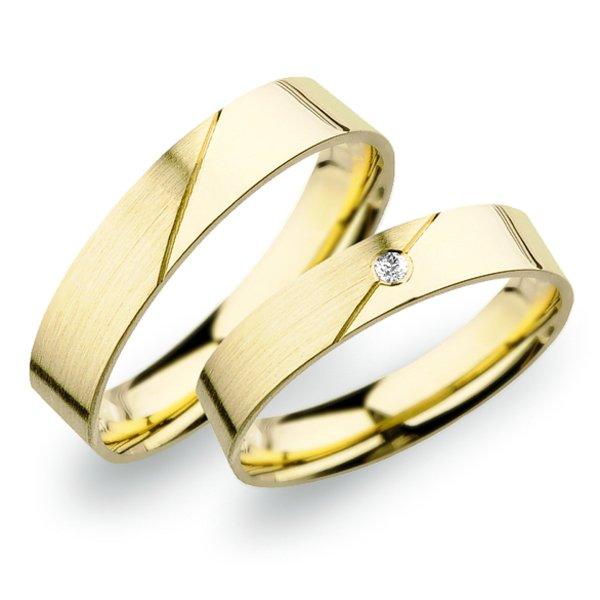Snubní prsteny ze žlutého zlata SP-246Z