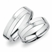 Snubní prsteny z bílého zlata SP-255B