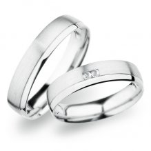 Snubní prsteny z bílého zlata SP-257B