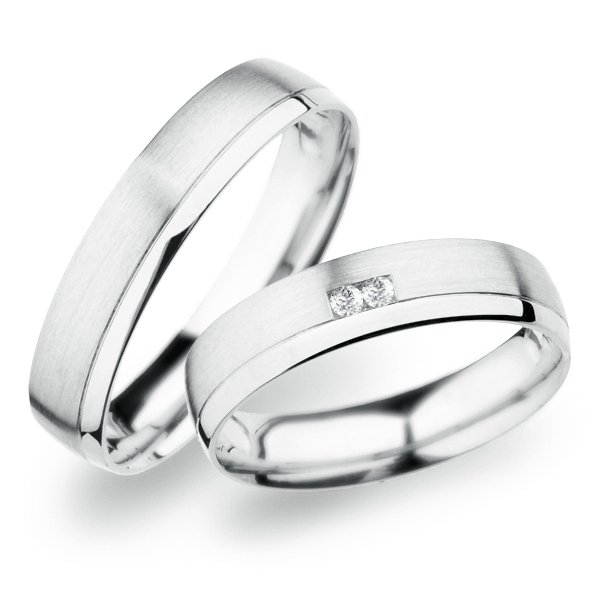 SP-257 Snubní prsteny z bílého zlata SP-257B