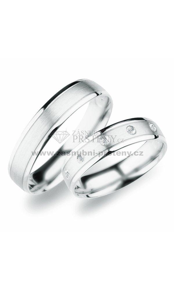 Sp 251 Snubni Prsteny Z Bileho Zlata Sp 251b Zasnubni Prsteny Cz