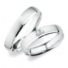 Snubní prsteny z bílého zlata SP-254B