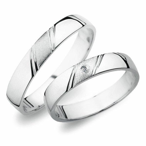 SP-258 Snubní prsteny z bílého zlata SP-258B