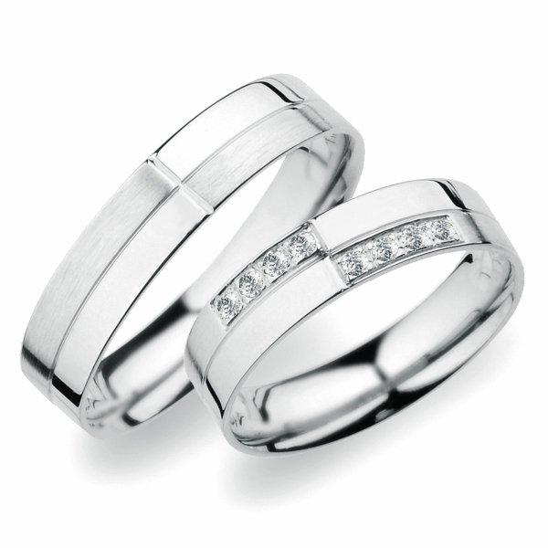 SP-256 Snubní prsteny z bílého zlata SP-256B