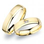 Snubní prsteny ze žlutého zlata SP-257Z