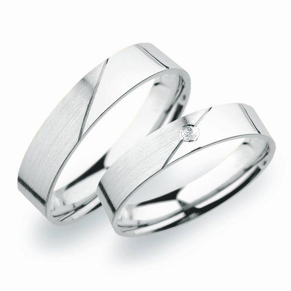 Snubní prsteny z bílého zlata SP-246B