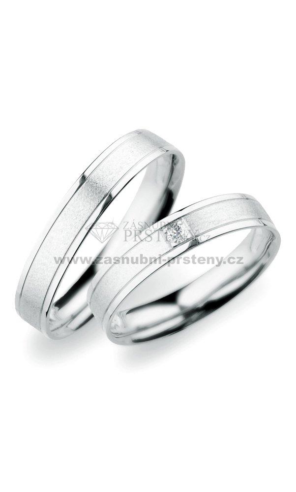 Sp 247 Snubni Prsteny Z Bileho Zlata Sp 247b Zasnubni Prsteny Cz