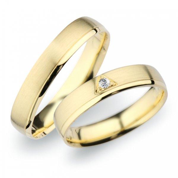 Snubní prsteny ze žlutého zlata SP-254Z