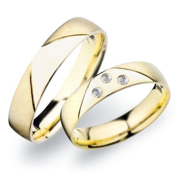 SP-259 Snubní prsteny ze žlutého zlata SP-259Z