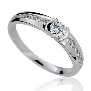 Zásnubní prsten se zirkony ZP2106