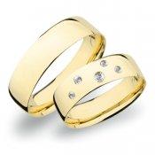 Zlaté snubní prsteny SP-262Z
