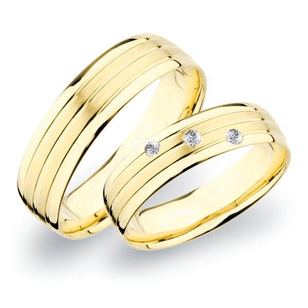 Snubní prsteny žluté zlato SP-266Z