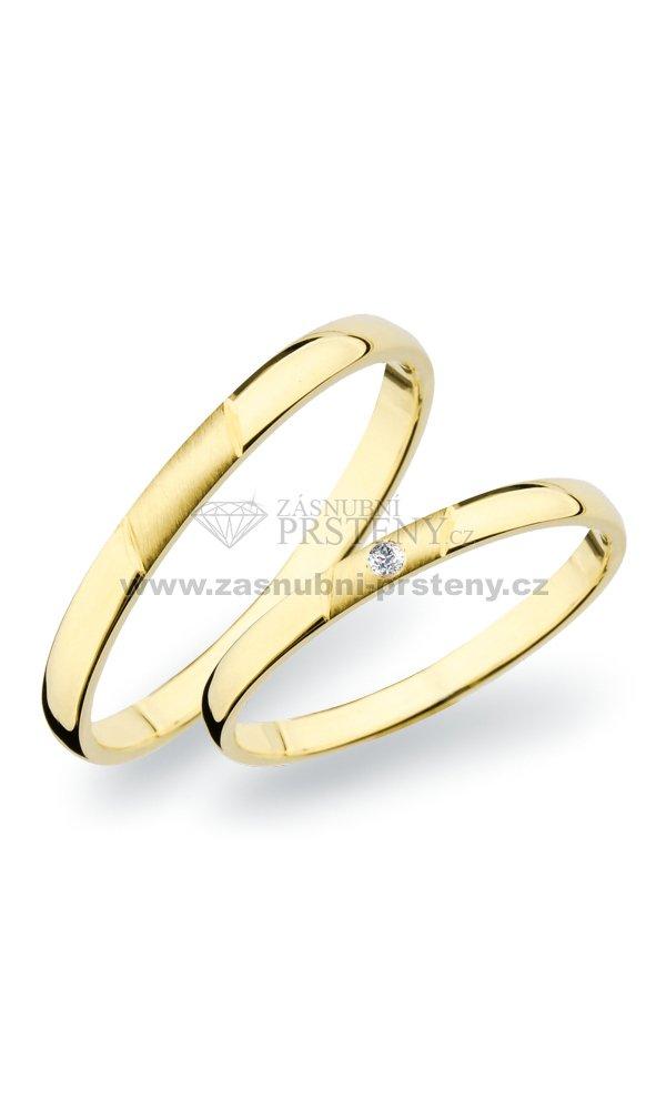 Sp 265 Snubni Prsteny Zlate Sp 265z Zasnubni Prsteny Cz