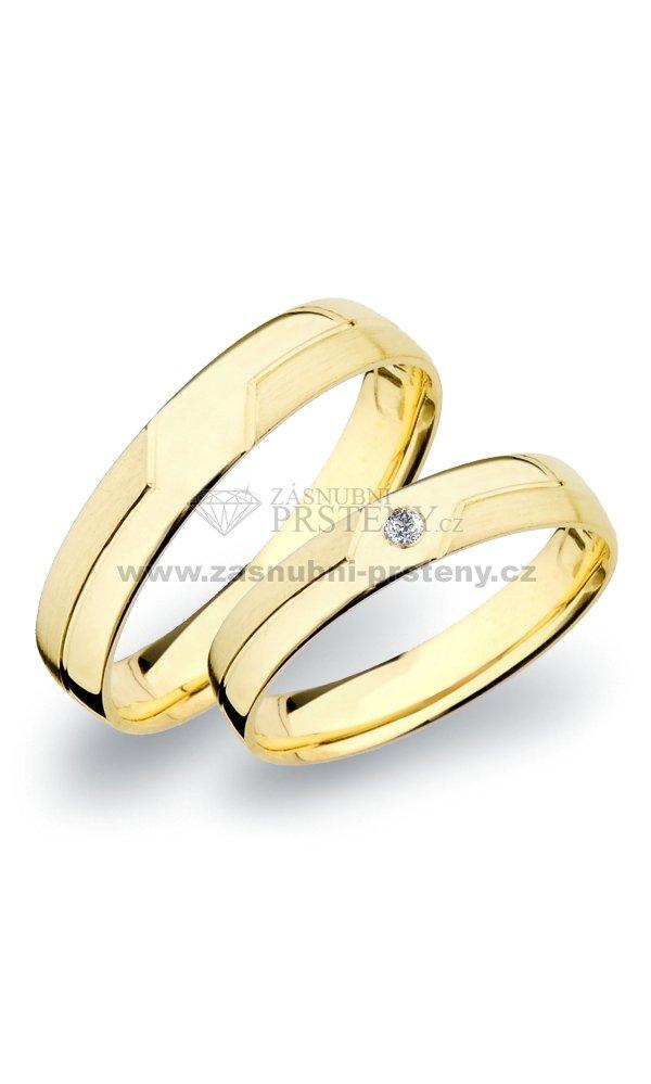 Sp 267 Snubni Prsteny Zlate Sp 267z Zasnubni Prsteny Cz