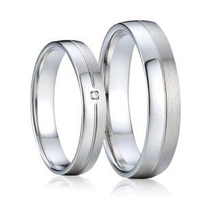 Ocelové snubní prsteny SP-7008
