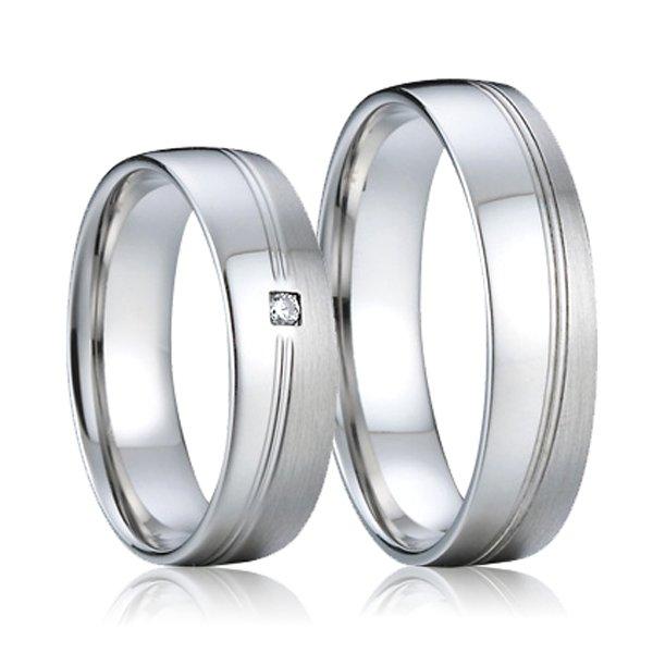 Ocelové snubní prsteny SP-7005