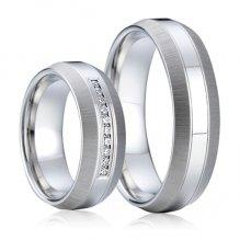 Ocelové snubní prsteny SP-7002