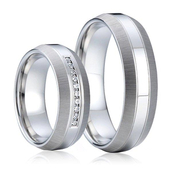 SP-7002 Ocelové snubní prsteny SP-7002