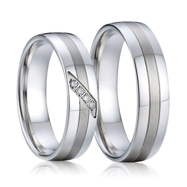 SP-7004 Ocelové snubní prsteny SP-7004