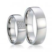 Lesklé ocelové snubní prsteny SP-7016