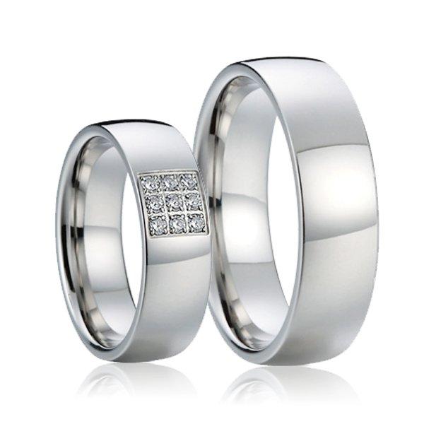 SP-7016 Ocelové snubní prsteny SP-7016