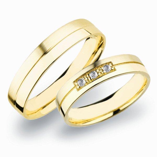 Snubní prsteny ze žlutého zlata SP-269Z