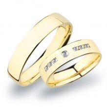 Snubní prsteny žluté zlato SP-270Z